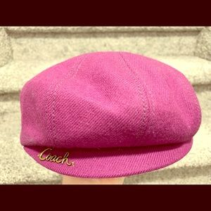 "Coach ""Poppy"" Purple Newsboy Cap"